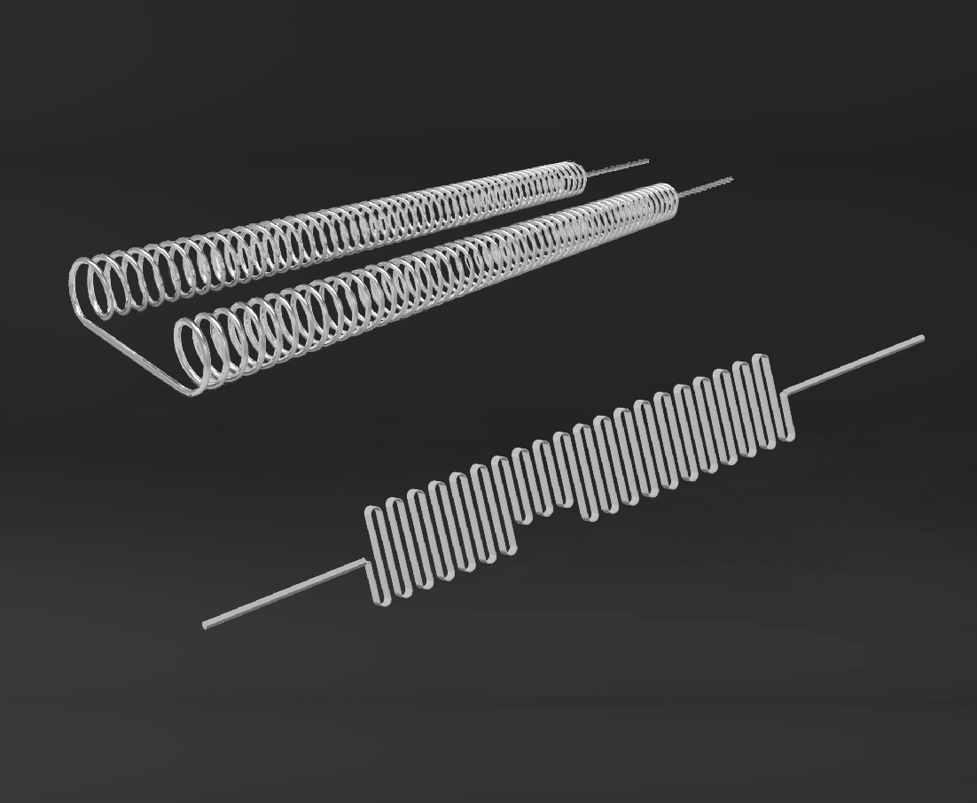 Open Coil and Sinusoidal Strip Heaters