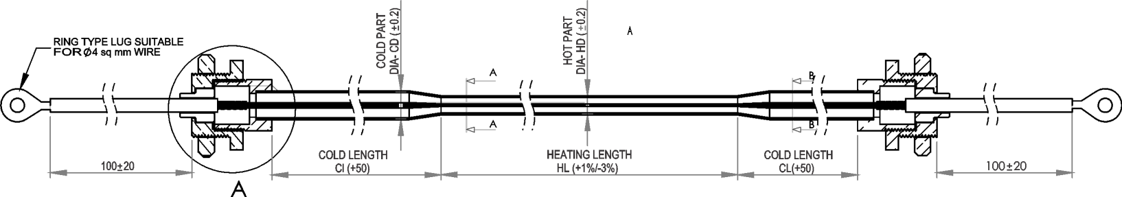 Expanded Cold Region type MI Heating Cable